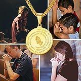 U7 Men Boys Coin Medal Religious Necklace