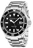 Stuhrling Original Men's 417.02 Aquadiver Regatta Espora Analog Swiss Quartz Silver Stainless Steel Watch