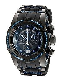 Invicta Men's 12301 Bolt Zeus Reserve Chronograph Black Dial Polyurethane-Band Watch