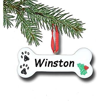 Dog bone personalized christmas tree ornament for Dog bone ornaments craft
