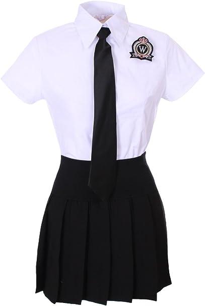 JapanAttitude Traje Adolescente Japonesa Cosplay Negra con Corbata ...