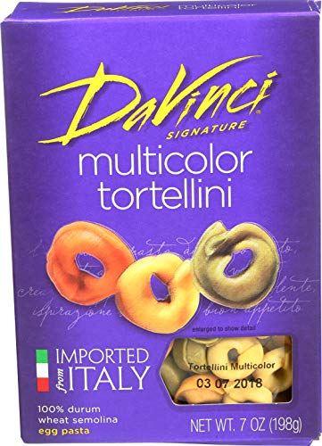 DaVinci Multicolor Tortellini, 7-Ounce Boxes (Pack of 12)