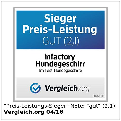 Hundegurt infactory Hundesicherheitsgurt: Hundegeschirr f/ür sichere Autofahrt Brustumfang 56-89 cm Gr/ö/ße XL