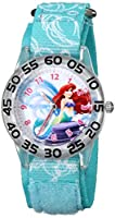 "Disney Kids' W001189 ""Time Teacher"" Ariel Watch With Printed Blue Nylon Band from Disney"