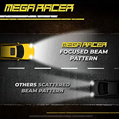 Mega Racer H13 9008 CREE COB C6 LED (High/Low Beam) All-in-One Kit Kit Ultra Bright White 8000 Lumen 80W: Automotive