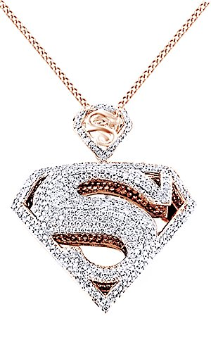 925 silver plated superman Pendant - 2