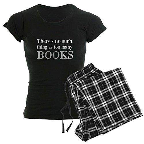 CafePress - Too Many Books Pajamas - Womens Novelty Cotton Pajama Set, Comfortable PJ Sleepwear