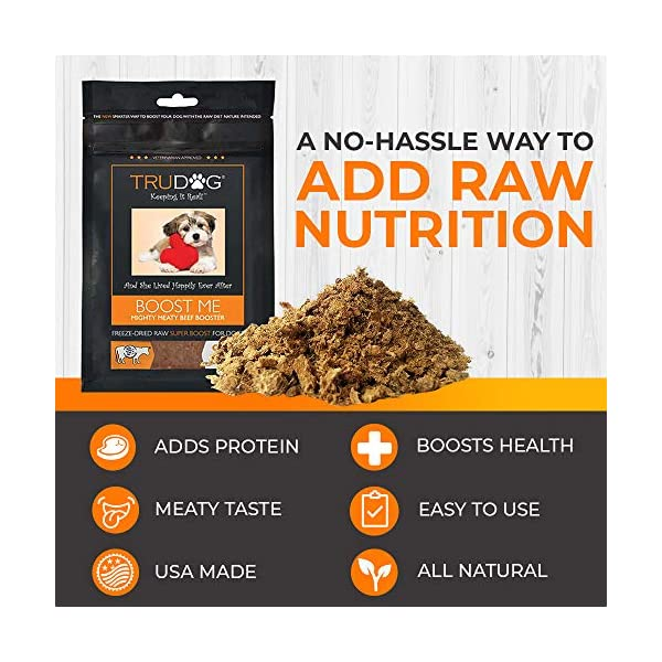 TruDog: Feed Me: Freeze Dried Raw Superfood - Real Meat Dog Food - Optimal Canine Health and Natural Longevity - All Natural - Balanced Nutrition - No Filters, No Grain - Just Add Water 5
