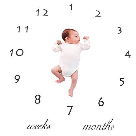 Manta para bebé con diseño de hito de bebé, manta de poliéster y ...