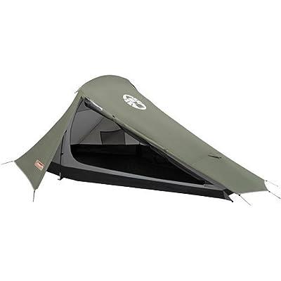 Coleman Bedrock 2 Tienda de campaña de 2 plazas para trekking o senderismo, acampadas y festivales, compacta, cabe en una mochila, impermeable hasta 2000mm de columna de agua, Verde, 2 personas