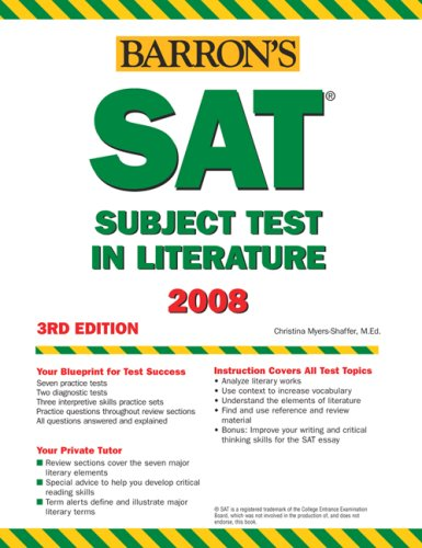 Barron's How to Prepare for the SAT Subject Test in Literature, 3rd Edition (Barron's Education - Harbor Hut