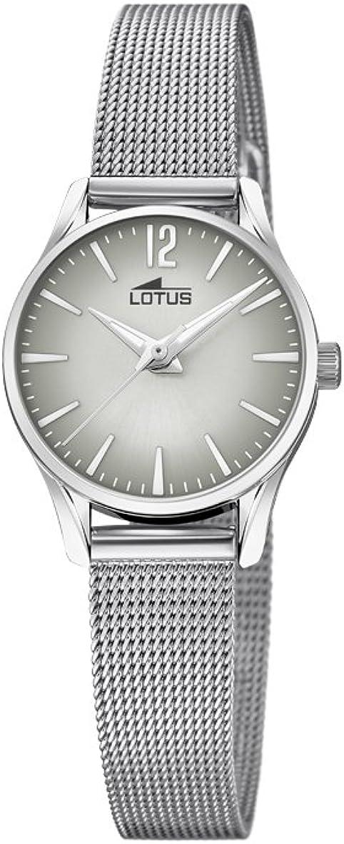 Lotus Watches Reloj Análogo clásico para Mujer de Cuarzo con Correa en Acero Inoxidable 18571/5