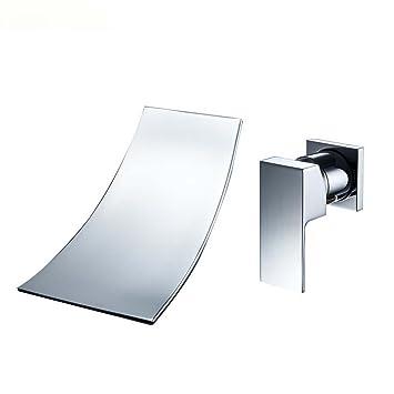 Moderne einfache Wand hängende Wand Wasserhahn voller Kupfer ...