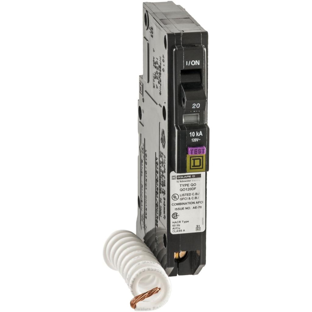 square d by schneider electric qo 20 amp single pole dual function square d qo 20 amp single pole cafci circuit breaker