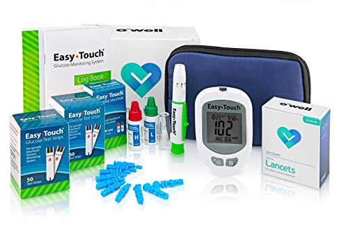 Easy Touch Diabetes Testing Kit - Easy Touch Meter, 100 Easy Touch Blood Glucose Test Strips, 100 OWell (Blood Testing)