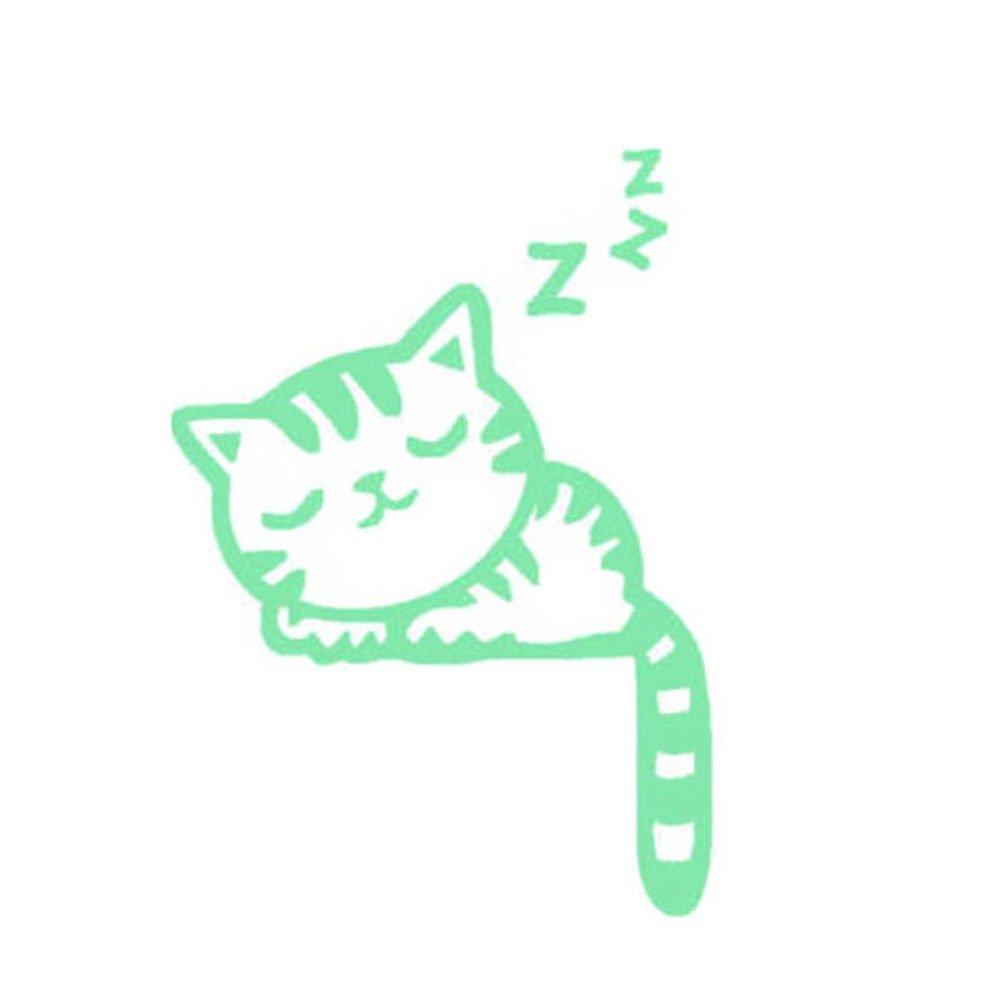 VORCOOL Adesivo interruttore luce luminoso Adesivi murali bagno Rimovibile Brillanti al Buio Adesivi da Parete carino gatto