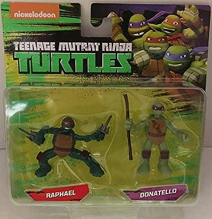 Amazon Com Teenage Mutant Ninja Turtles Raph Donnie Mini Figure