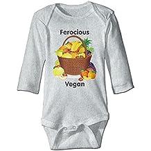 Ferocious Vegan Baby Organic Long Sleeve Bodysuits Original Infant and Toddler Rompers