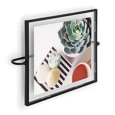 Umbra Phantom Wall Picture Frame, 8 x 10, Floating Frame, Black