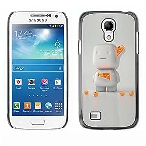 YiPhone /// Prima de resorte delgada de la cubierta del caso de Shell Armor - 3D White Orange Character Cute - Samsung Galaxy S4 Mini i9190 MINI VERSION!