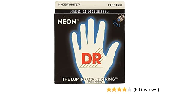 Amazon.com: DR Strings NWE-11 DR NEON Electric Guitar Strings, Heavy, White: Musical Instruments