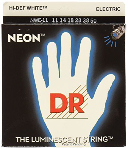 DR Strings NWE-11 DR NEON Electric Guitar Strings, Heavy, White by DR Strings