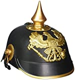Forum Novelties - German Officer Pickelhaub Helmet, Black  and  Gold Colored