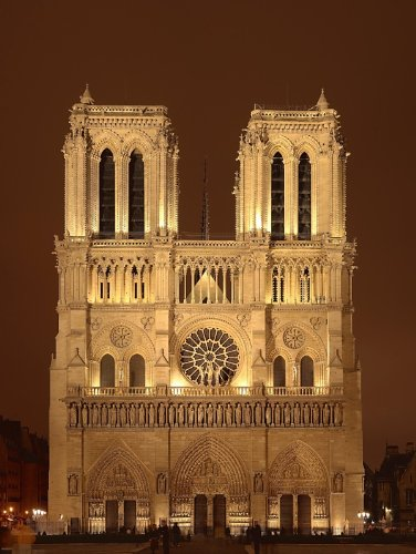 Notre Dame Cathedral Paris France Poster Art Photo Historical Architecture Artwork Posters