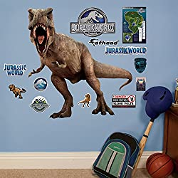 Fathead T-Rex-Jurassic World Junior Peel and Stick Wall Decals