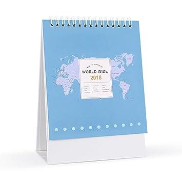 Amazon baidercor 2018 desk calendar new year blue world map 6 baidercor 2018 desk calendar new year blue world map 6quot gumiabroncs Gallery