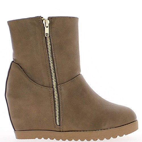 8cm heel invisible thick Boots and taupe soles Rw8WqB