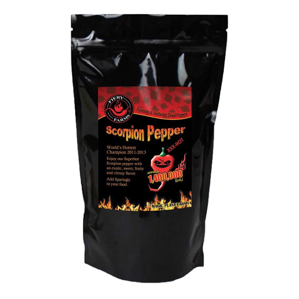 Dry Trinidad Scorpion Butch T powder   Grounded Trinidad Scorpion Peppers (4oz)