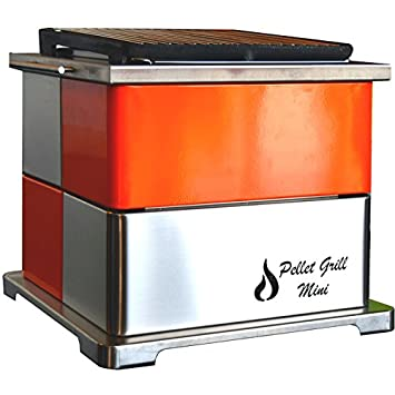 Barbacoa de pellet grill mini naranja