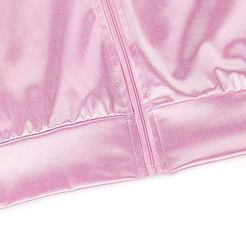 1950s Carnavales Disfraces Grease Pink Para Danny Mujer Rosa Lunares Cazadora Pañuelo Disfraz Chaqueta Lady Color Halloween Rosado Satén 1 Con Ladies Zarupeng De Z4FTF0