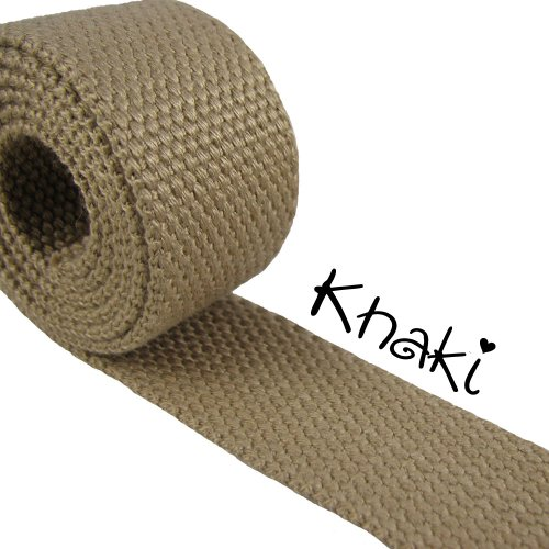 Khaki - Heavy Canvas Webbing Roll 1.25