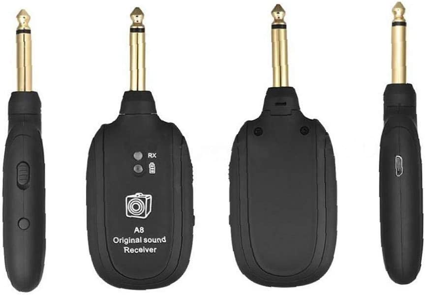 Sistema Senza Fili Chitarra Uhf Wireless Guitar Audio Transmitter Receiver Nero 20hz-20khz Per La Chitarra Elettrica Basso Violino Pratica /& Utilities