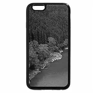 iPhone 6S Plus Case, iPhone 6 Plus Case (Black & White) - Autumn over the river
