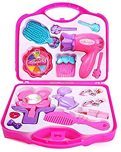 rayfin a2z shopmart beauty set makeup kit for girls, pink- Multi color