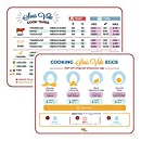 Sous Vide Cooker Precision Water Immersion Circulator Cooking Times Instructions Magnet for Fridge – Set of 2 – Sous Vide Eggs, Meats, Veggie, Fish Cheat Sheets – Suvee Cooker Cooking Gifts