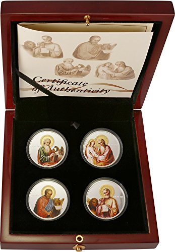 2011 Niué - Orthodox Shrines - The Evangelists Set - Matthew, Mark, Luke, John - 4 x 1oz - Silver Coins - $2 - Evangelist Icon