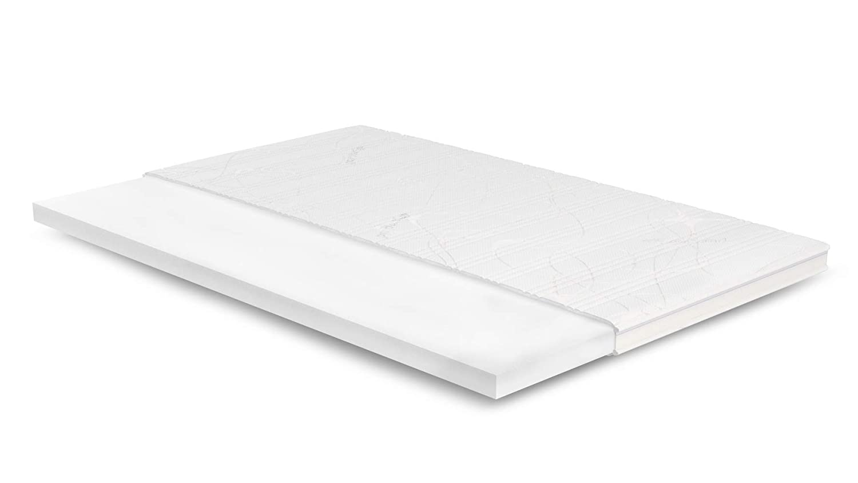 AS Meister 7cm Kaltschaum Topper 130x190 cm - Purotex Bezug mit 3D-Mesh-Klimaband & Stegkante - 5cm HR Kaltschaum RG 45 - Matratzenauflage 130x190 für Ihr Bett