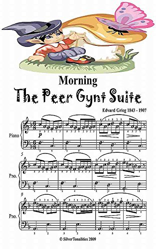 Morning the Peer Gynt Suite Easy Piano Sheet Music Junior Edition