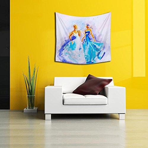 Arazzo Appeso In Di 42 Seta 40 Muro Bella Blu Donne Pollici Abiti Artzfolio X 7 Xz5xC8Hqwn