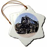 3dRose Kettle Valley Steam Railway, Summerland, British Columbia, Canada. - Snowflake Ornament, Porcelain, 3-Inch (ORN_207672_1)
