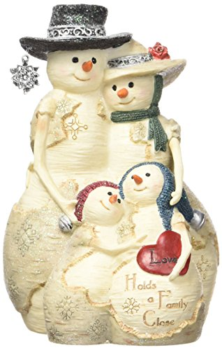 (Pavilion Gift Company BirchHeart 5-Inch Tall Snowman Family, Reads Love Holds a Family Close)