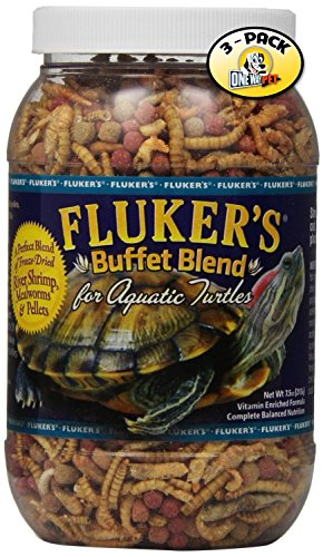 Fluker's Buffet Blend Aquatic Turtle Formula for Pets, 7.5-Ounce (Pack of 3)