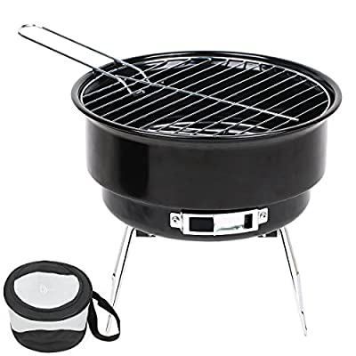TD Design Portable Charcoal Grill, Tabletop Grill with Cooling Bag, 10-Inch by TD Design