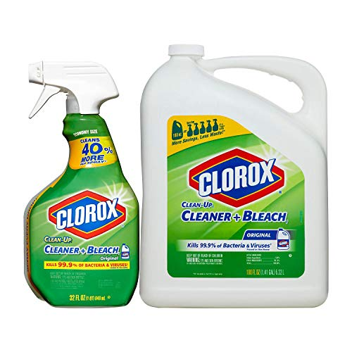 Clorox Bleach Spray - 2 X Clorox Clean-Up Cleaner Spray with Bleach and Refill Combo, 32 Ounce Spray Bottle + 180 Ounce Refill by Clorox