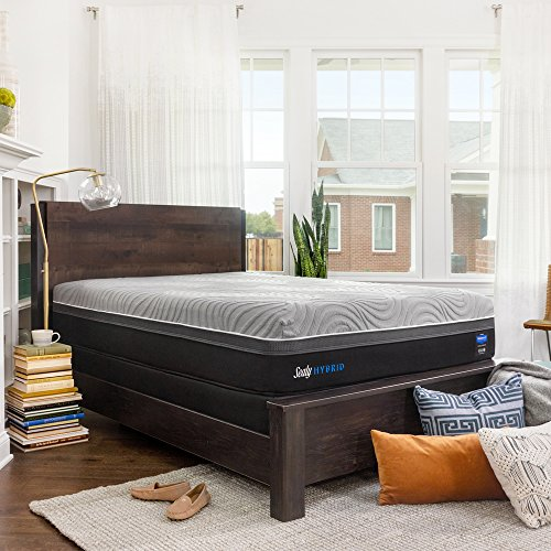Sealy Posturepedic Hybrid Performance Kelburn 13-Inch Medium Firm Cooling Mattress, Queen, Made in USA,  10 Year Warranty