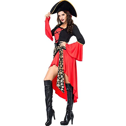 ASDF Disfraz de Pirata Disfraz de Halloween Juego Uniforme ...